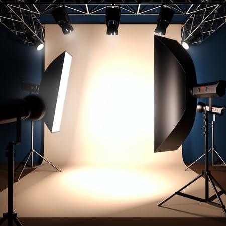 Eine 3D-Darstellung von einem Fotostudio Hintergrund Vorlage. Standard-Bild - 11465418