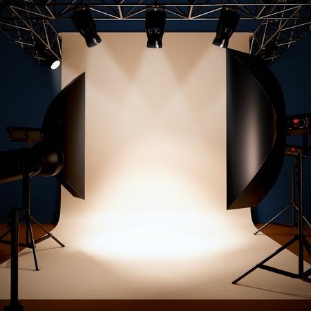 Eine 3D-Darstellung von einem Fotostudio Hintergrund Vorlage. Standard-Bild - 11468043