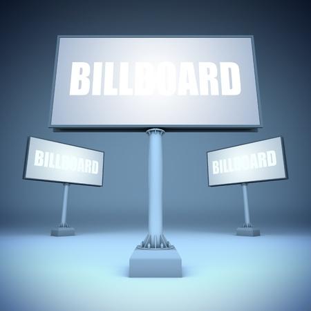 show bill: A 3d ilustraci�n de carteles plantilla en blanco.