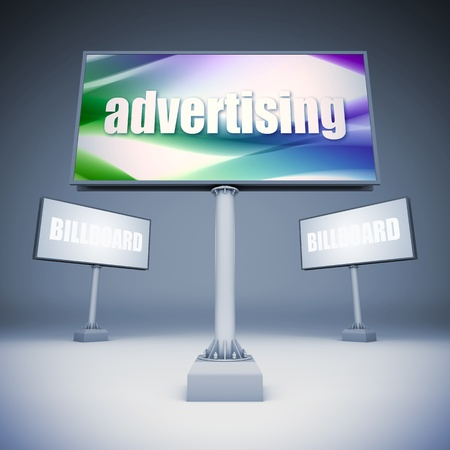 show bill: A 3d illustration of blank template billboards. Stock Photo