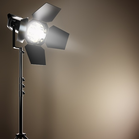 A 3D illustration of a studio flash.