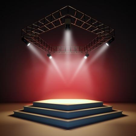 Eine 3D-Darstellung einer leeren Bühne. Standard-Bild - 12108116