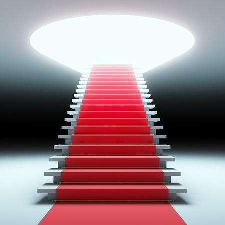 Eine 3D-Darstellung der rote Teppich für die Zukunft. Standard-Bild - 12108115