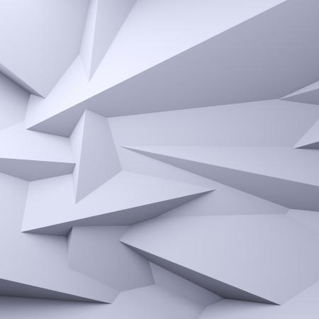 Eine 3D Darstellung von leeren facettierten weißen Hintergrund. Standard-Bild - 12888823