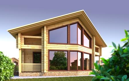 Een 3D-afbeelding van het huis van de droom. Stockfoto - 13267599