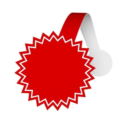 Eine 3D-Darstellung der Wobbler für verschiedene Produkte zu fördern Standard-Bild - 13549684