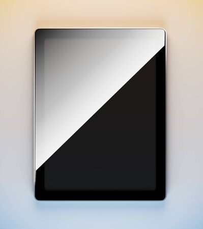 note pc: A 3d illustration of blank template tablet pc.