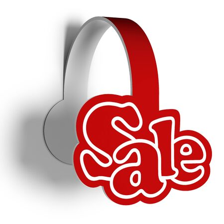 sellout: A 3d illustration of sticker for sellout various products. Sale wobbler. Stock Photo