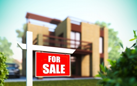 Eine 3D-Darstellung von zu Hause zum Verkauf Standard-Bild - 16262353