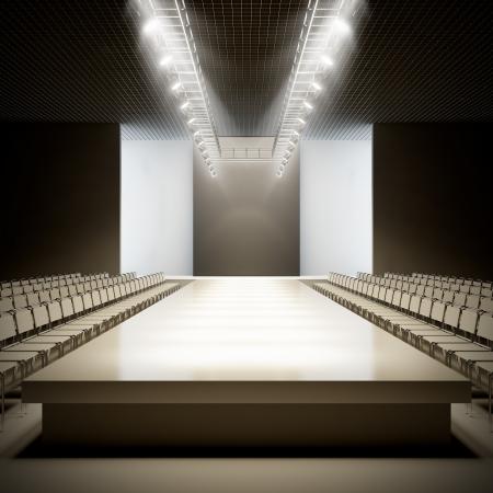 Eine 3D-Darstellung von Mode leere Start-und Landebahn. Standard-Bild - 17119684