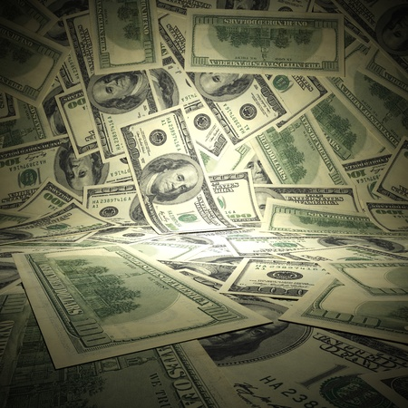 greenbacks: Dollar background. A 3d illustration of empty scene surface from american dollars.