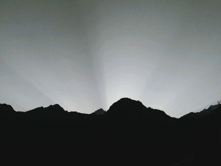 Early morning sunrise in the lap of himalayas india