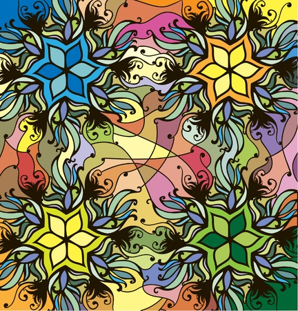 substrate: Abstract color pattern in the style of stained glass Illustration