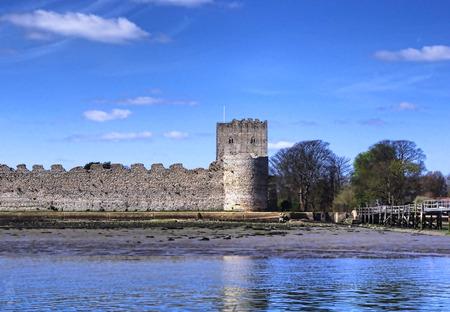 castle rock: Castle ruins Stock Photo