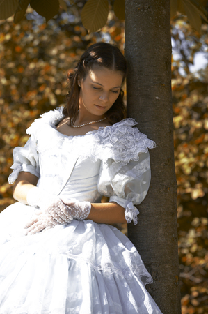 elisabeth: a young female dressed like the austrian Empress Elisabeth in fine monarchy syle
