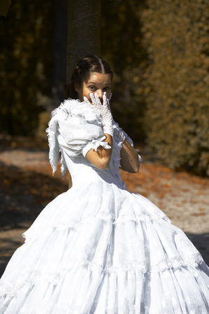 austrian: a young female dressed like the austrian Empress Elisabeth in fine monarchy syle