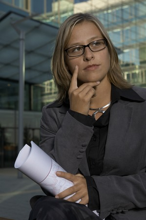 young good looking business woman portrait