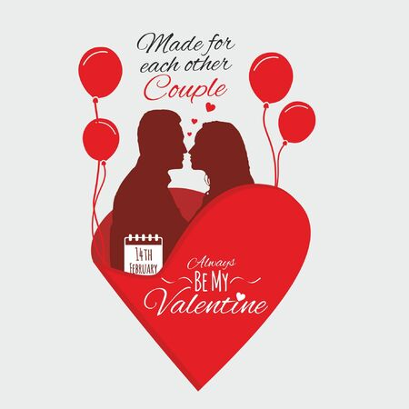 Valentine couple -made for each other greeting
