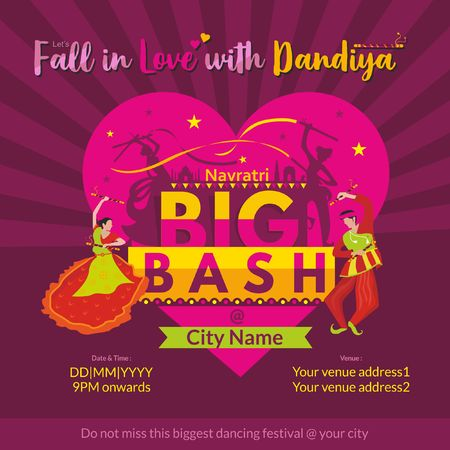 Big Bash on Navratri Dandiya nights template