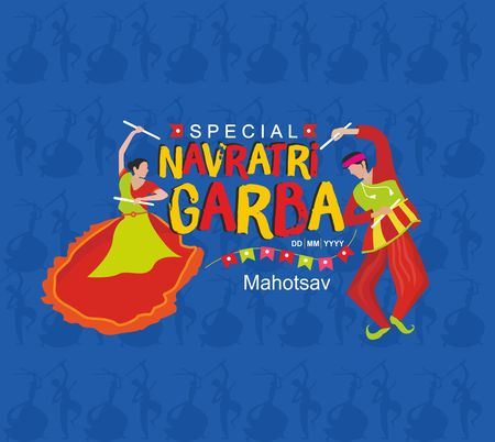 Navratri Garba Mahotsav logo template