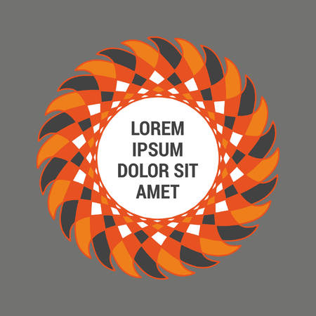 Abstract circular template in orange color 向量圖像