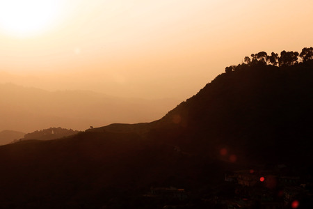 Scenic view of beautiful valley located in mountain somewhere at the time of evening Фото со стока