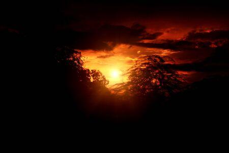 Beautiful sunset in the nature. Фото со стока