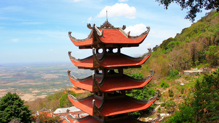 Pagoda of Nirvana Buddha on Ta Cu mountain in Vietnam, It was formed on October 26, 1996 in Tan Lap commune, Ham Thuan Nam district, about 30 km South East of Phan thiet.