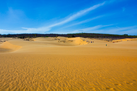 Beauty of Landscape desert, Red Sand Dune Mui Ne in Vietnam on Sunny day