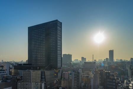 Tokyo, Japan - March 27, 2018: Tokyo Skyline high rise buildings in the morning at Shinjuku area