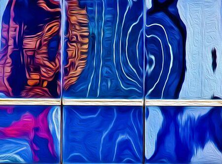 Abstract art illustration reflection
