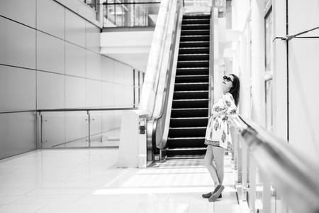 Asian women standing and feel relaxinng Stock Photo