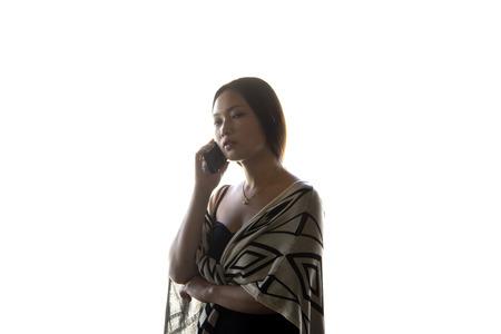 Asian women portrait talking on cell phone
