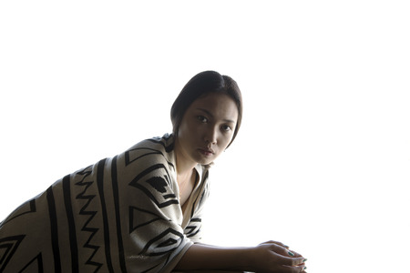 women  portrait on white background Stock Photo