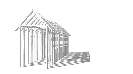 Perspective of archway, shade and shadow, architectural design 3D rendering Imagens
