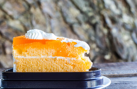 pices: a pices of orange cake