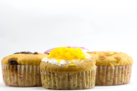 cake stand: cup cake on white background