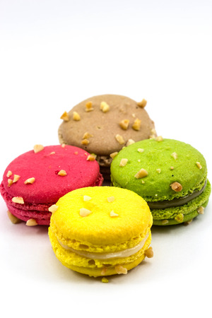 Sweety Macarons on the white background Stock Photo