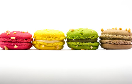 maroni: Sweety Macarons on the white background  Stock Photo