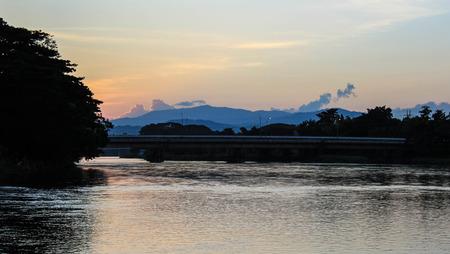 woody bay: Sunset over Chiangrai City,Kok river