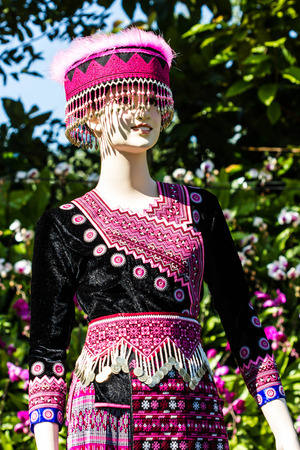 tradition clothes of Hmong woman photo