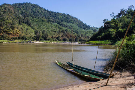 khong river: Khong river with bluesky ,weingkan in Chiangrai ,Thailand
