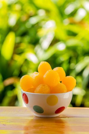 gold  ball: gold ball Thai snack