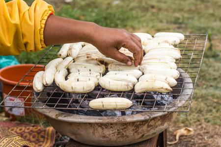 platanos fritos: Banana grilled , dessert in Laos.
