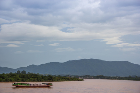Boat in Khong river ,north Thailand
