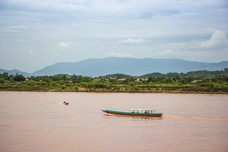 Boat in Khong river ,north Thailand