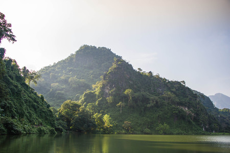 The reservoir at north Thailand. Stock Photo