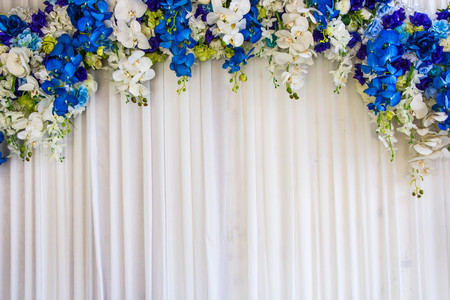 Flowers archway of wedding venue 스톡 콘텐츠