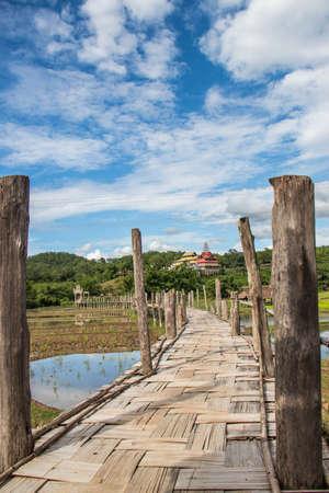 bamboo bridge at north Thailand