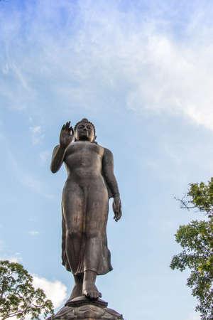 Buddha  statue in public temple north Thiland Standard-Bild